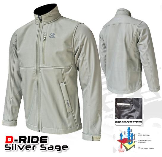 Jaket Respiro D-Ride Silver Sage